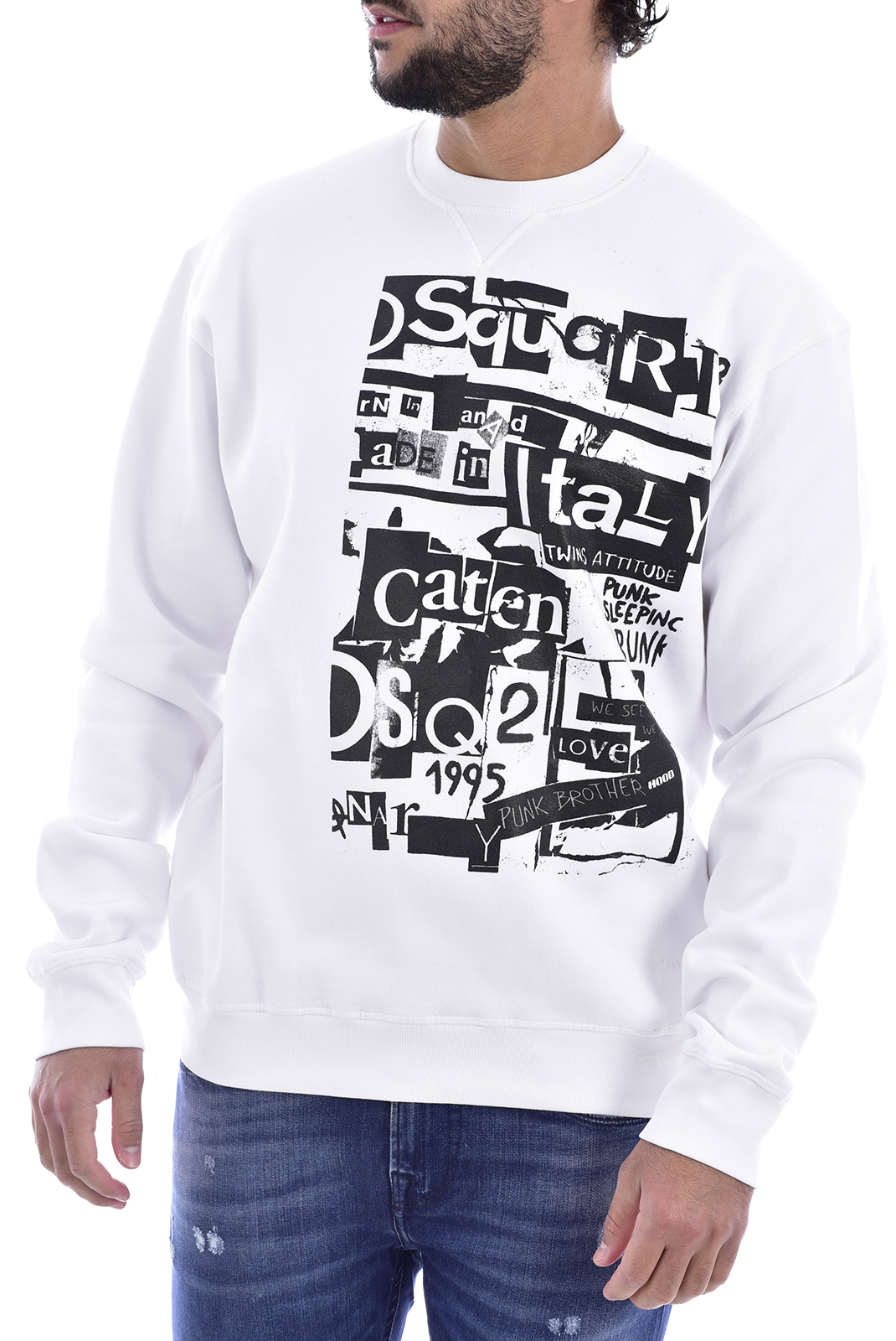 Sweatshirts  Dsquared2 S74GU0305 100 WHITE