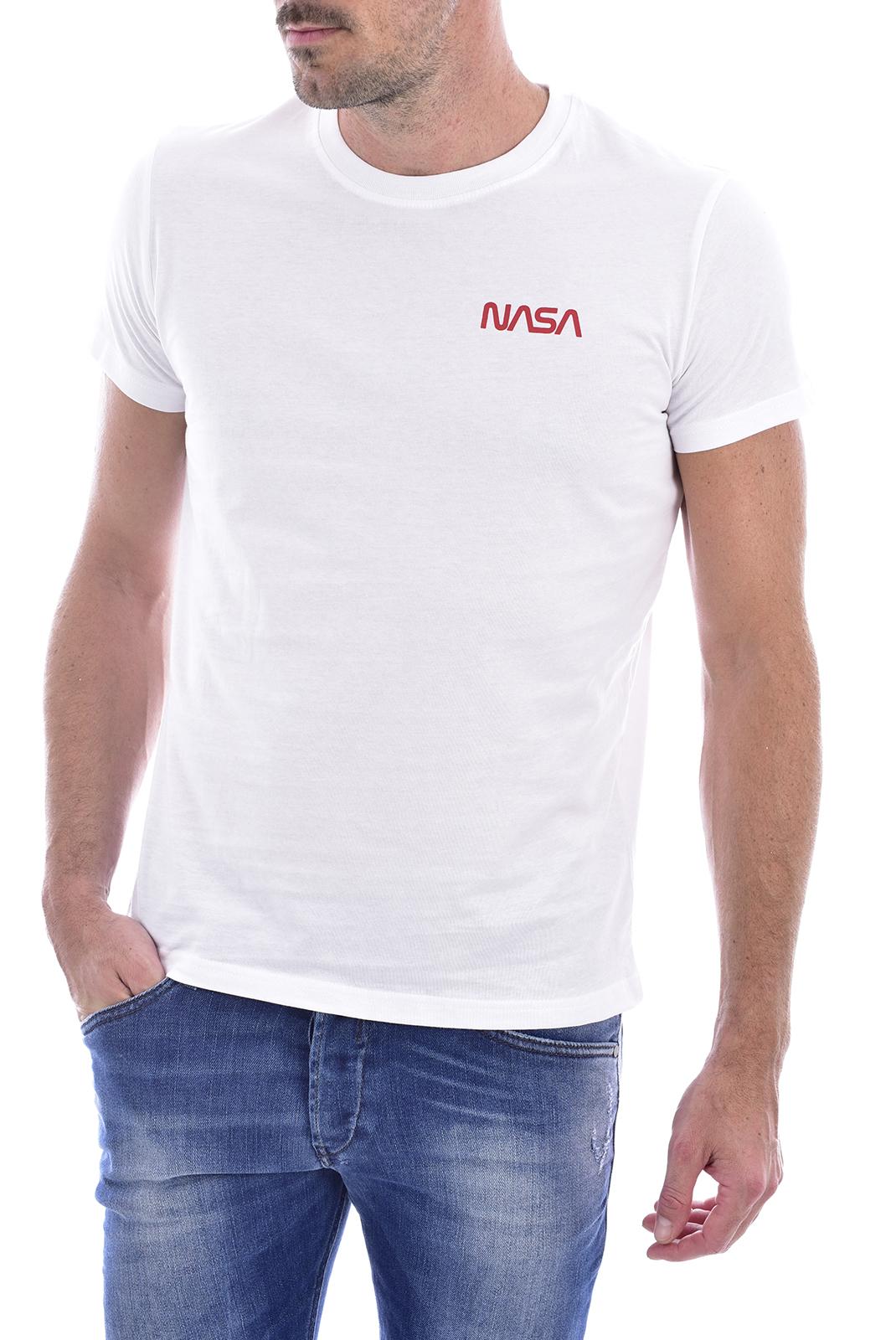 T-S manches courtes  Nasa BASIC WORM O NECK WHITE