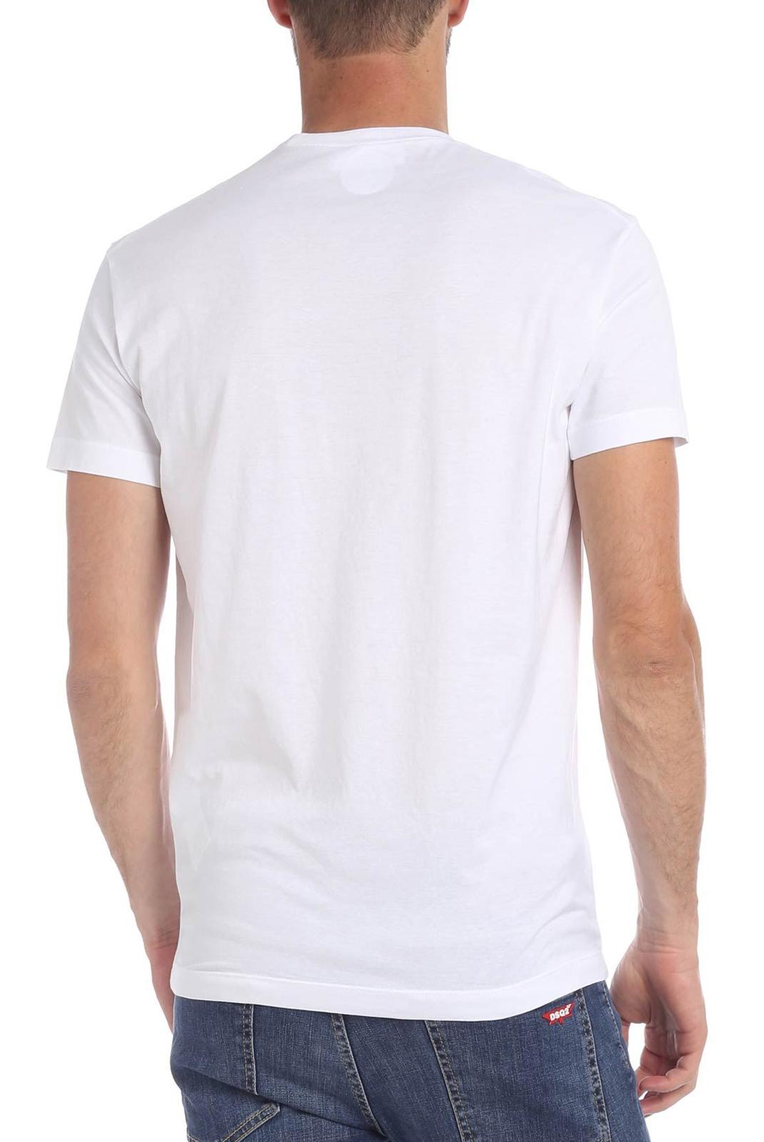 Tee-shirts  Dsquared2 S74GD0558 100 BLANC