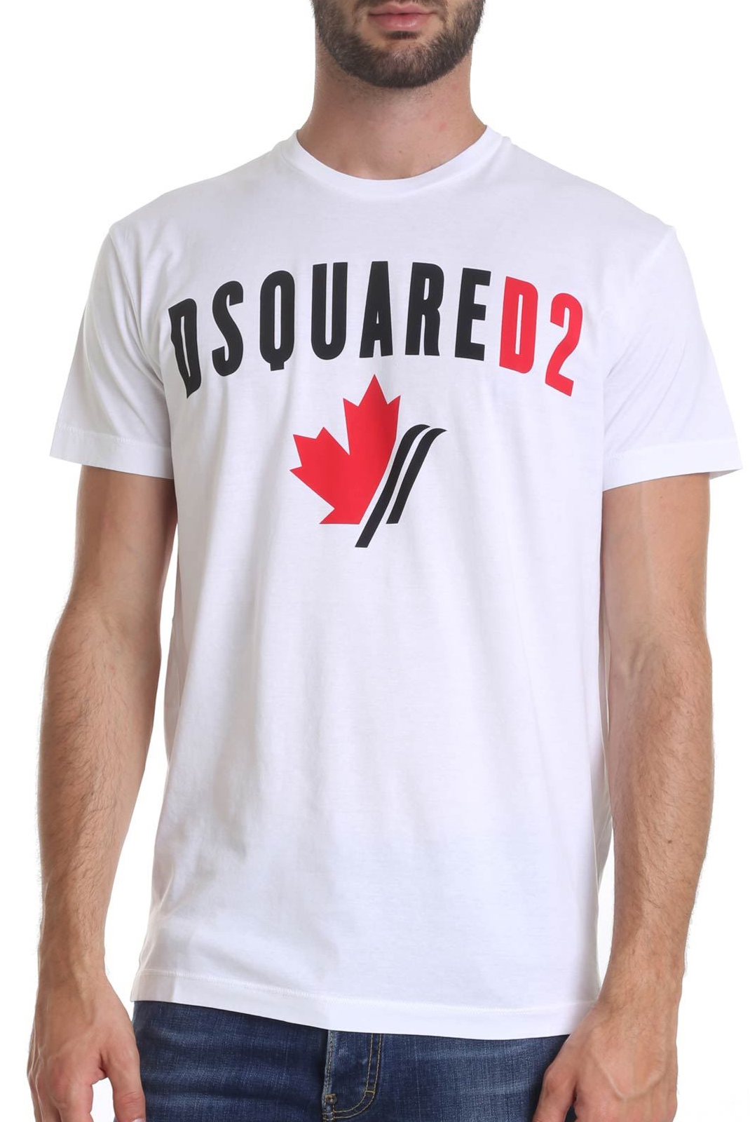 Tee-shirts  Dsquared2 S74GD0563 100 BLANC