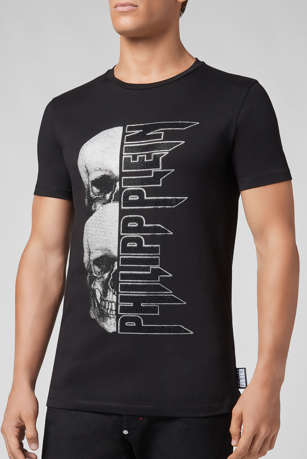 Tee-shirts  Philipp plein MTK3036 SKULL 02 NOIR