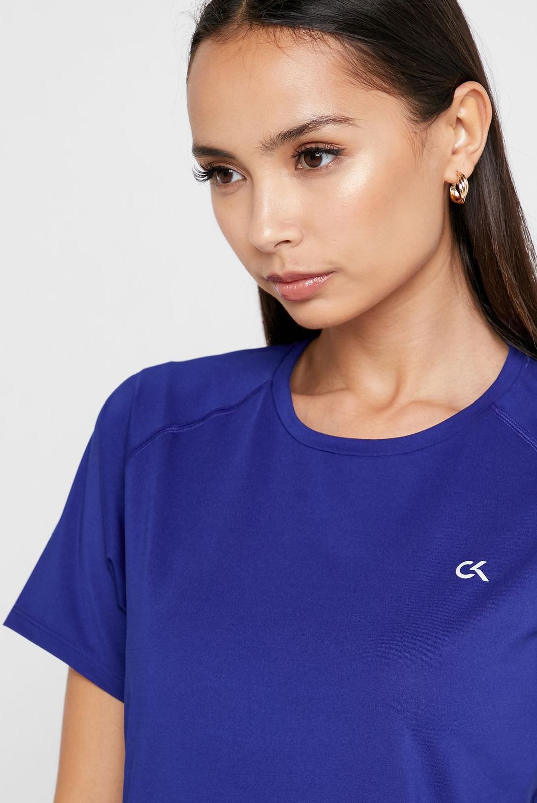 Tee shirt  Calvin klein 00GWF8K140-485 Blue Sapphire