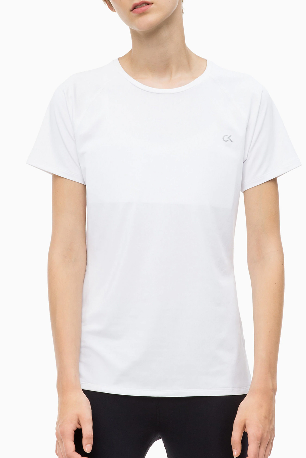 Tee shirt  Calvin klein 00GWF8K140-100 Bright White