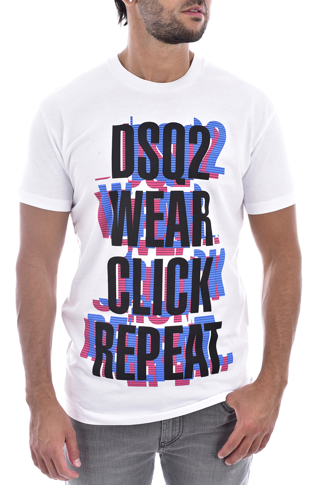 Tee-shirts  Dsquared2 S74GD0554 100 BLANC