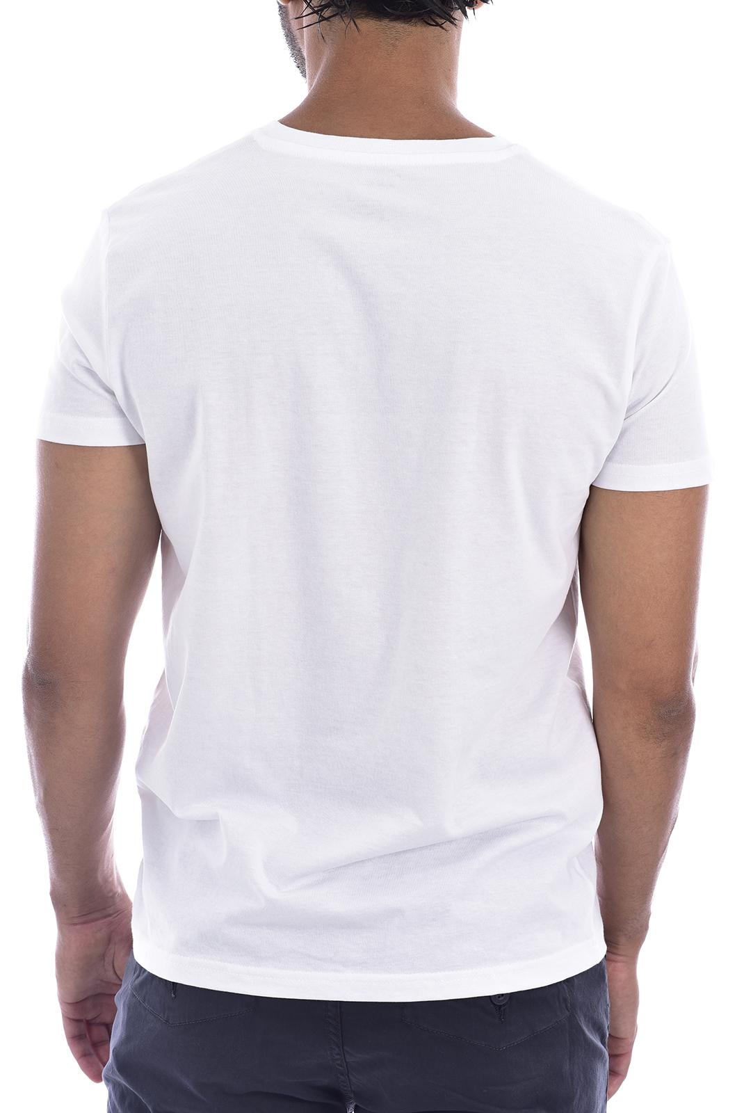 T-S manches courtes  Nasa BASIC WORM V NECK WHITE