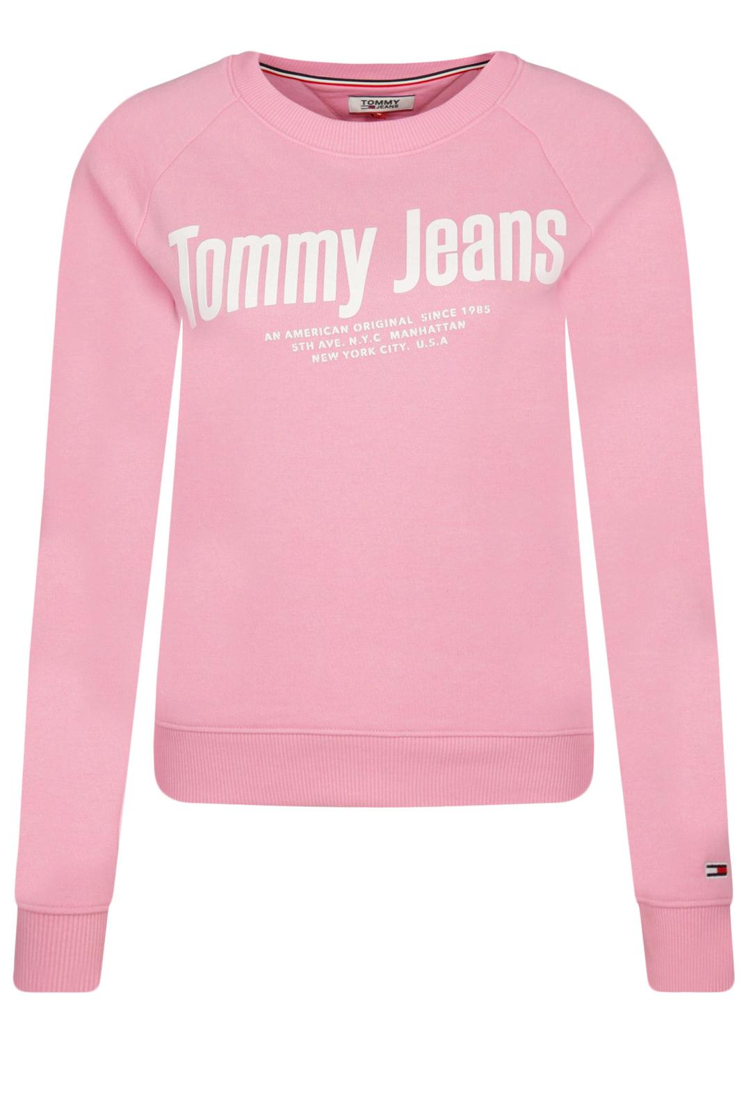 Sweat / sweat zippé  Tommy Jeans DW0DW07978 CHEST TOU PINK DAISY