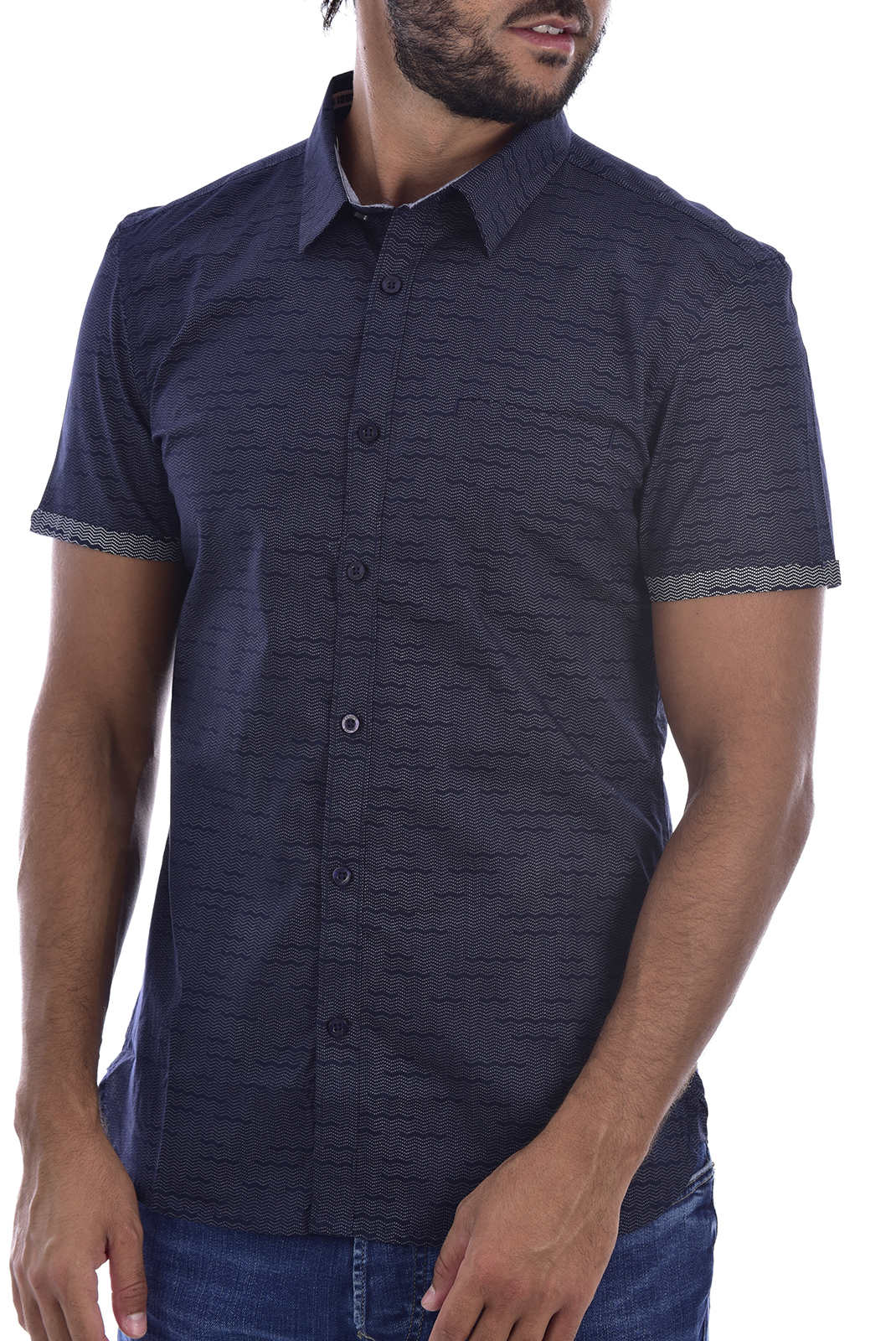 Chemises manches courtes  Teddy smith CUT MC 303JC TOTAL NAVY