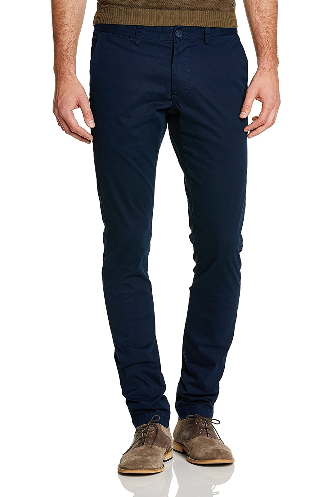 Pantalons chino/citadin  Teddy smith CHINO STRETCH 303U-US NAVY