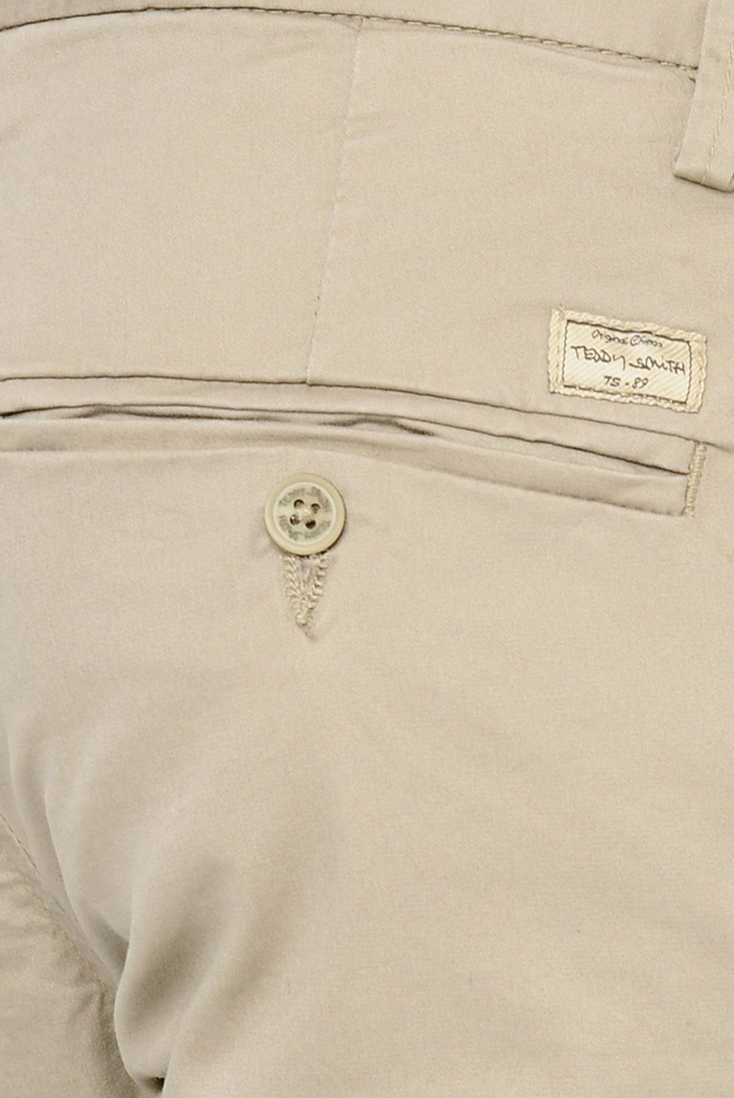 Pantalons chino/citadin  Teddy smith CHINO STRETCH 222-BEIGE