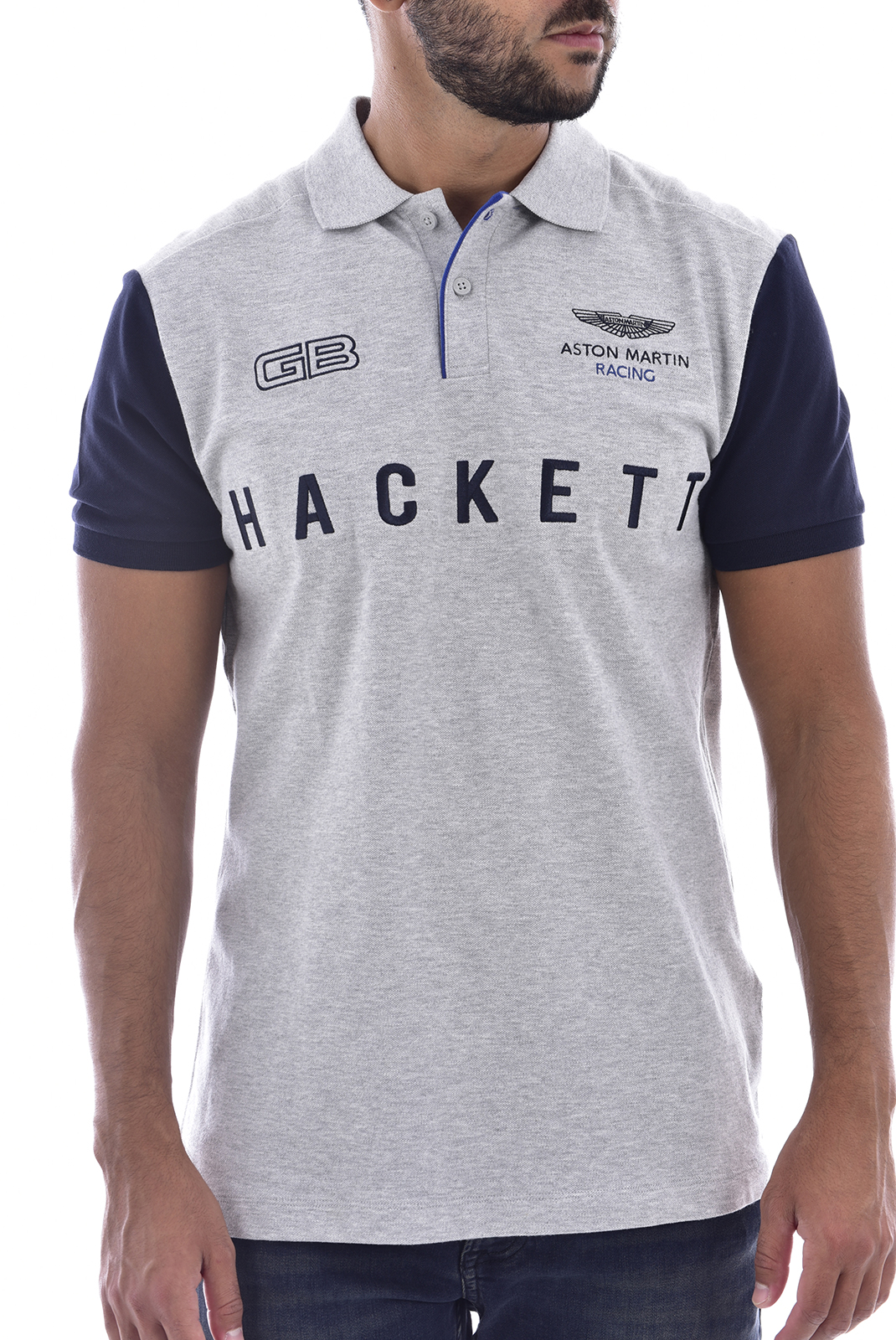 Polos  Hackett london hm562357 gris