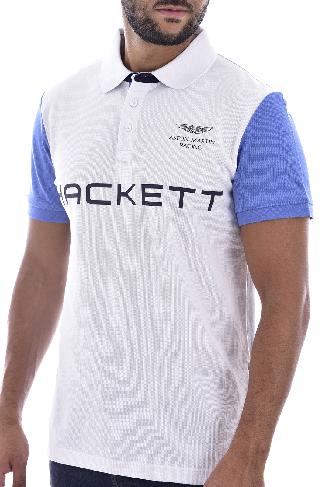Polos  Hackett london hm562533 800 blanc