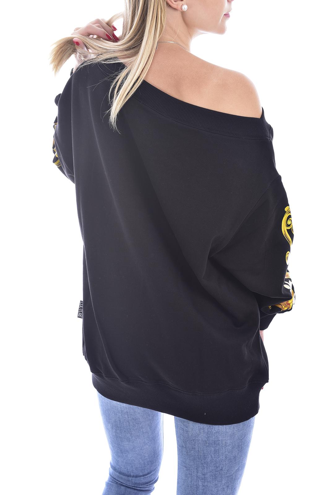 Sweat / sweat zippé  Versace Jeans B6HVB70E NOIR