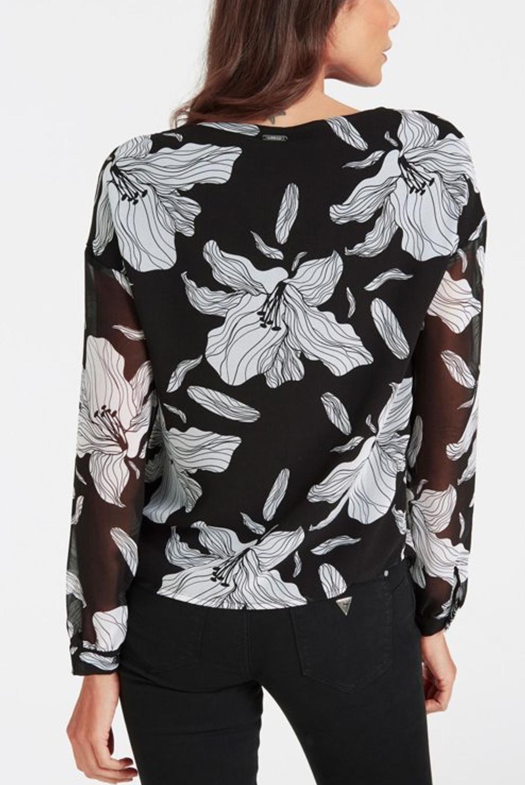 Blouses  Guess jeans W93H92W8SL0 PASSION FLOWER BLK W
