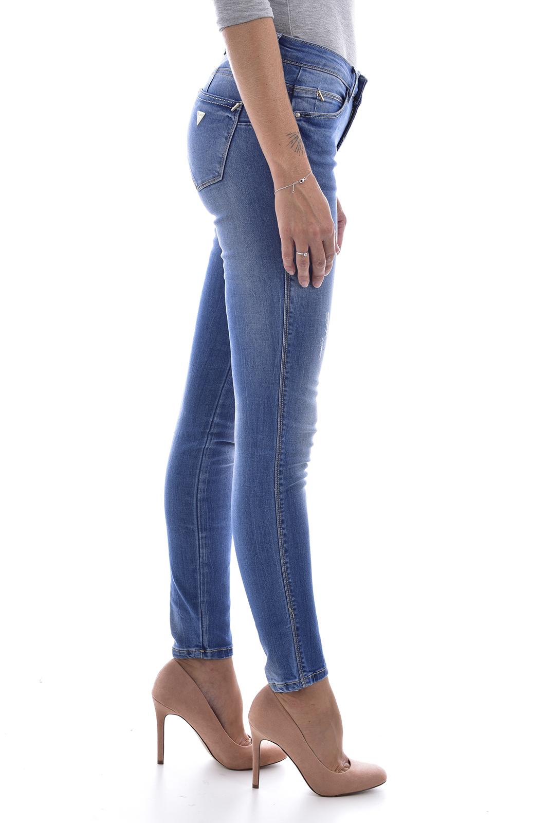 Jeans   Guess jeans W83AJ2D38K0 Curve X LINDEN BLUE