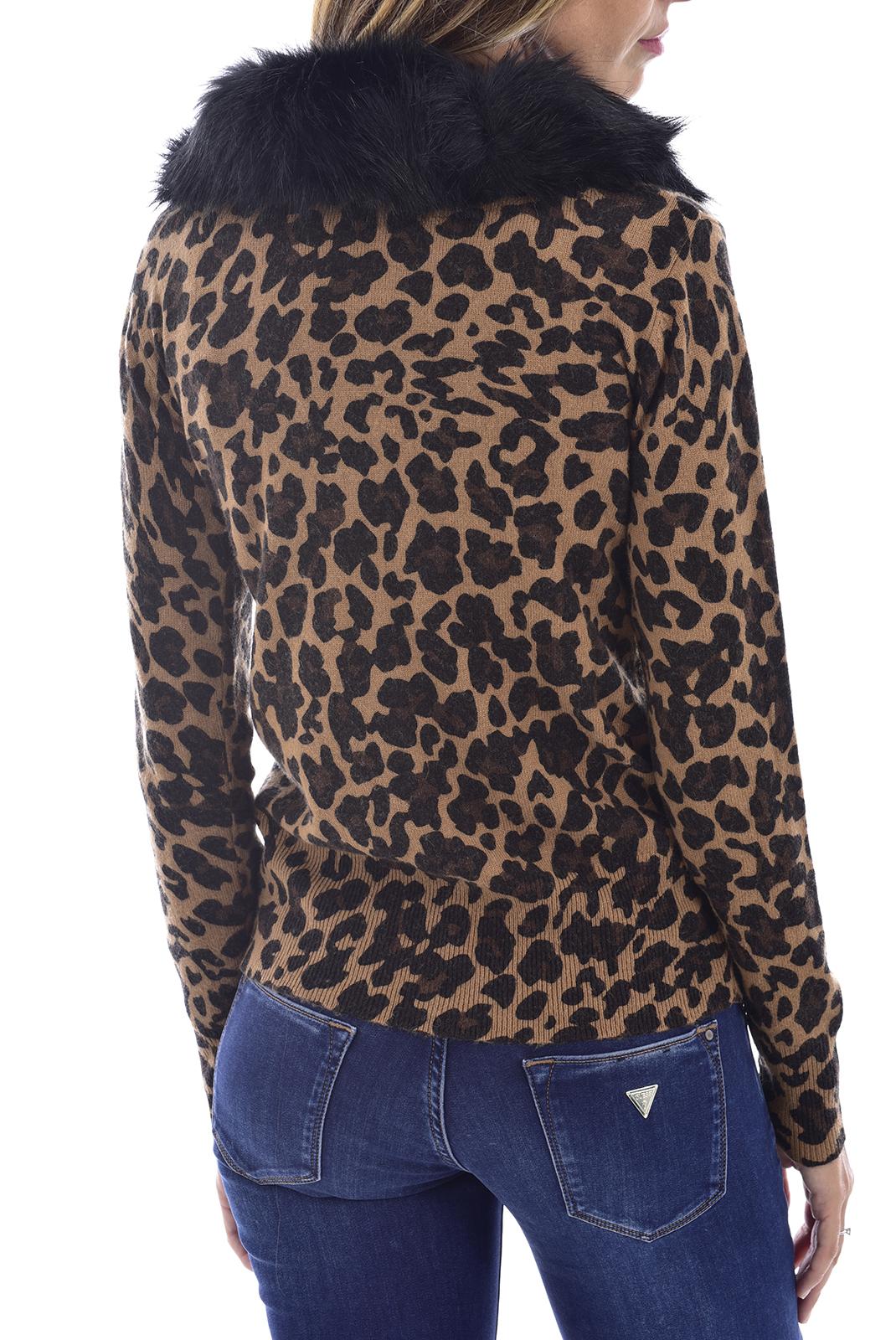 Gilet  Guess jeans W94R83Z2IJ0 BEIGE LEOPARD COMBO