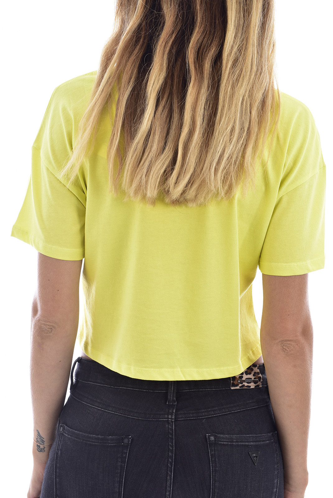 Tee shirt  Guess jeans W72I1PI3Z09 FLUO YELLOW