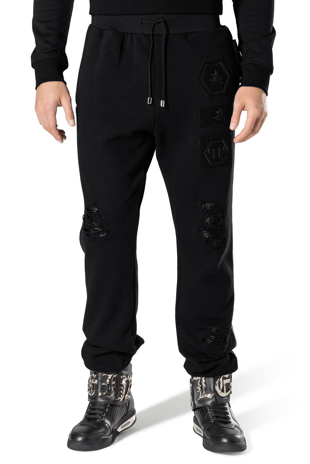 Pantalons sport/streetwear  Philipp plein MJT0360 BLACK