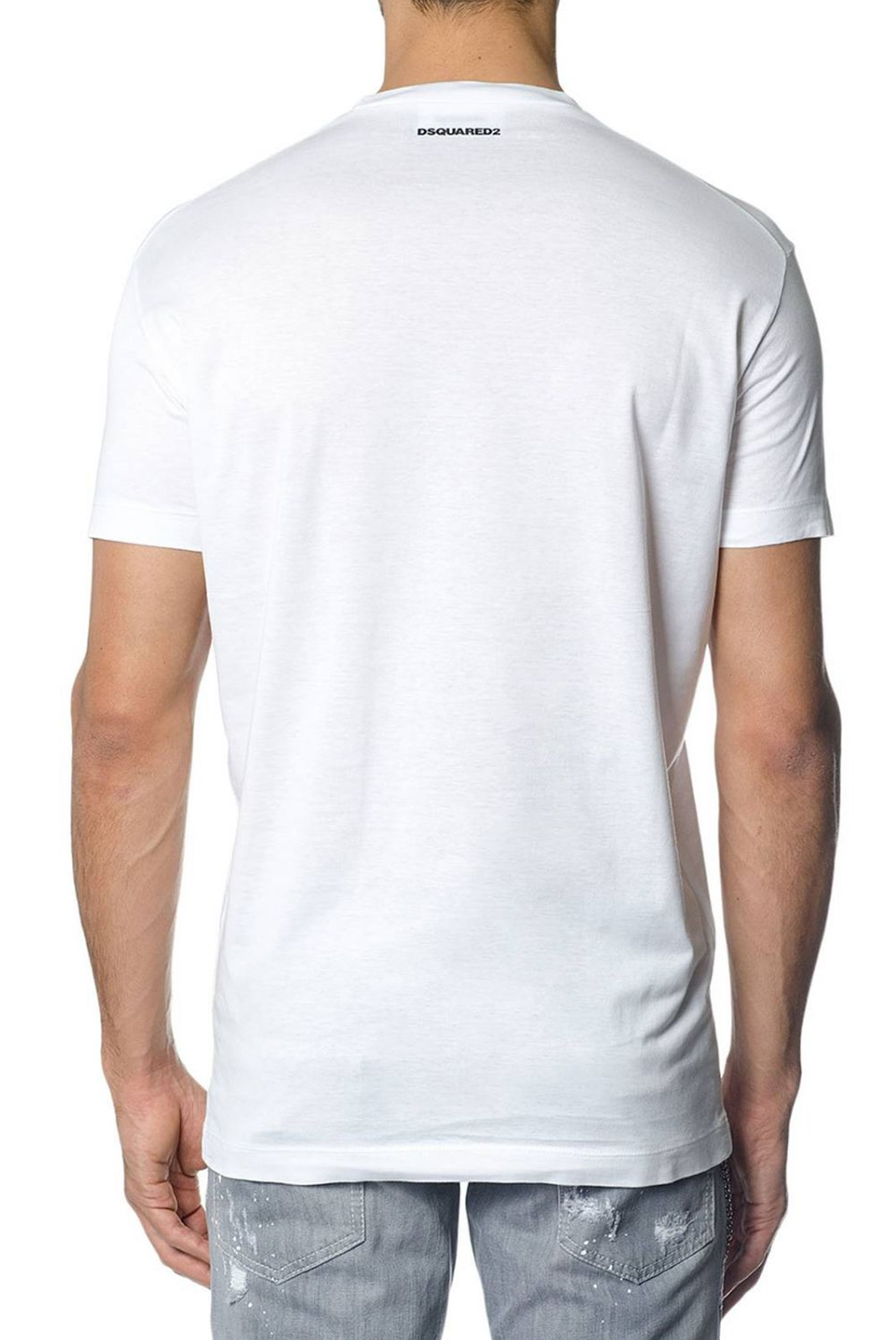 Tee-shirts  Dsquared2 S74GD0362 100 WHITE