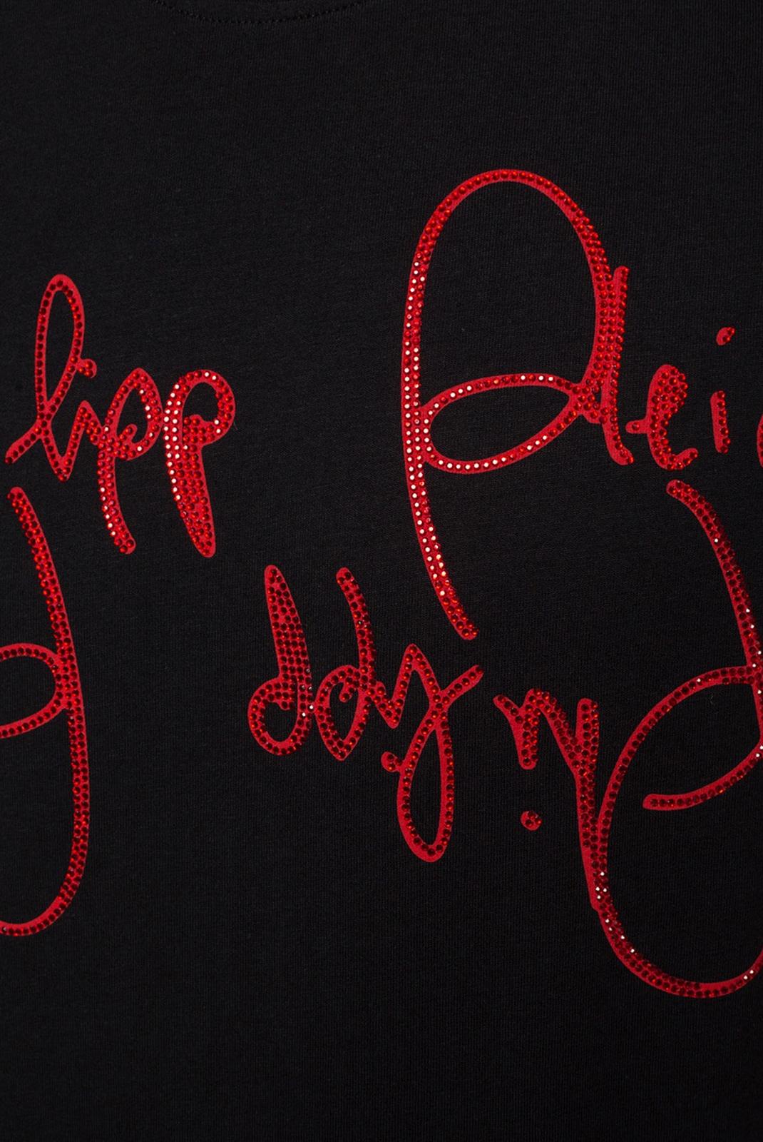 T-S manches courtes  Philipp plein MTK3873 BLACK/RED