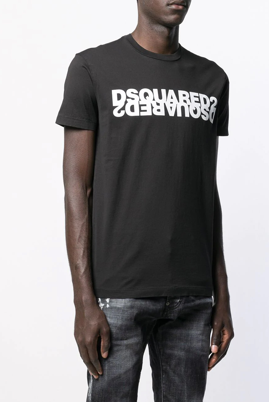 Tee-shirts  Dsquared2 S74GD0635 900 BLACK