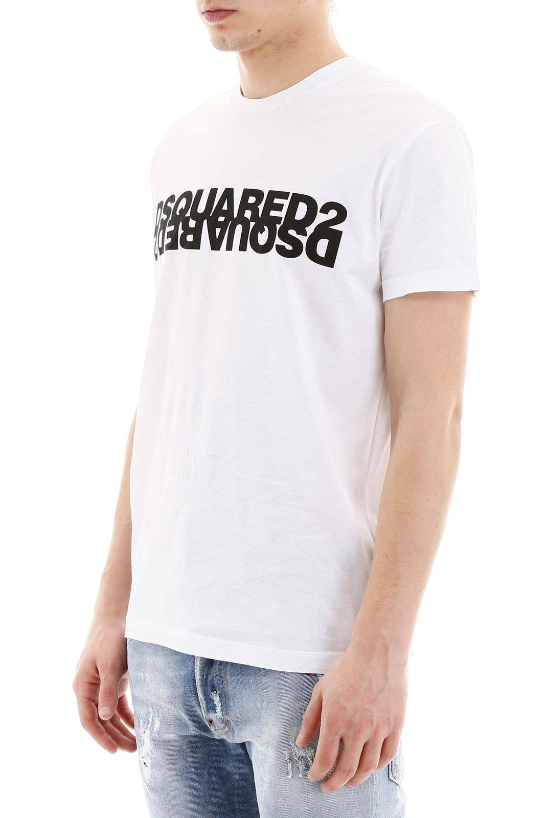 Tee-shirts  Dsquared2 S74GD0635 963X WHITE