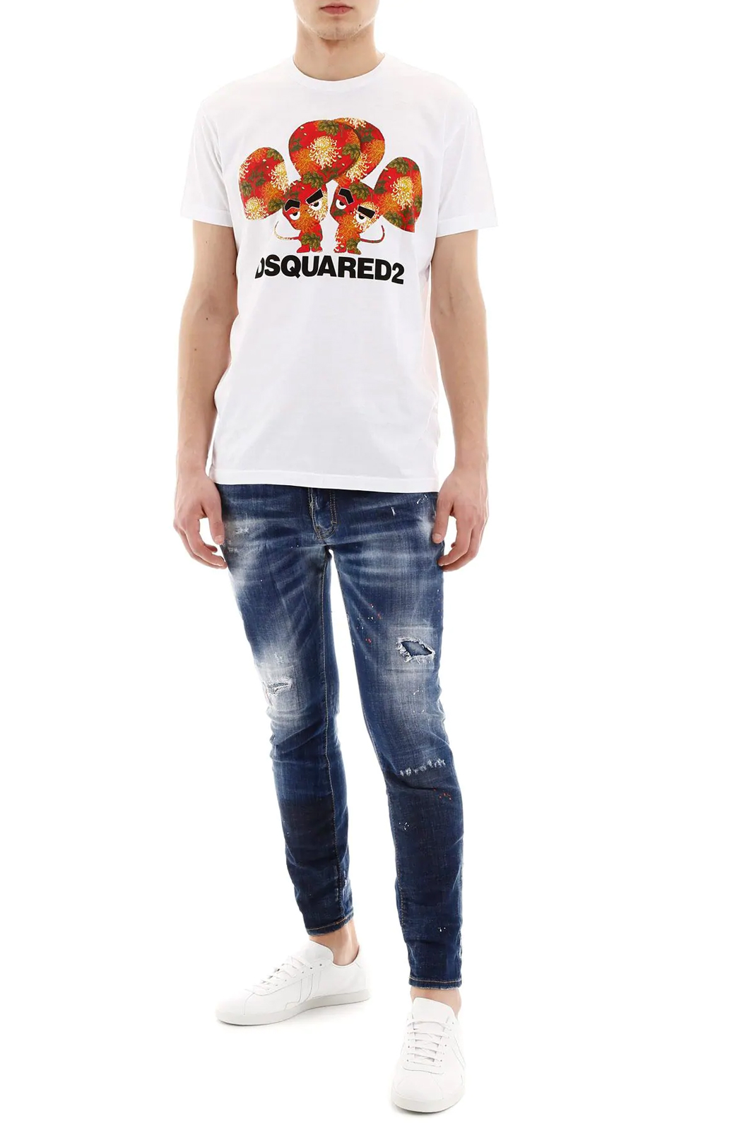 Tee-shirts  Dsquared2 S74GD0654 100 WHITE