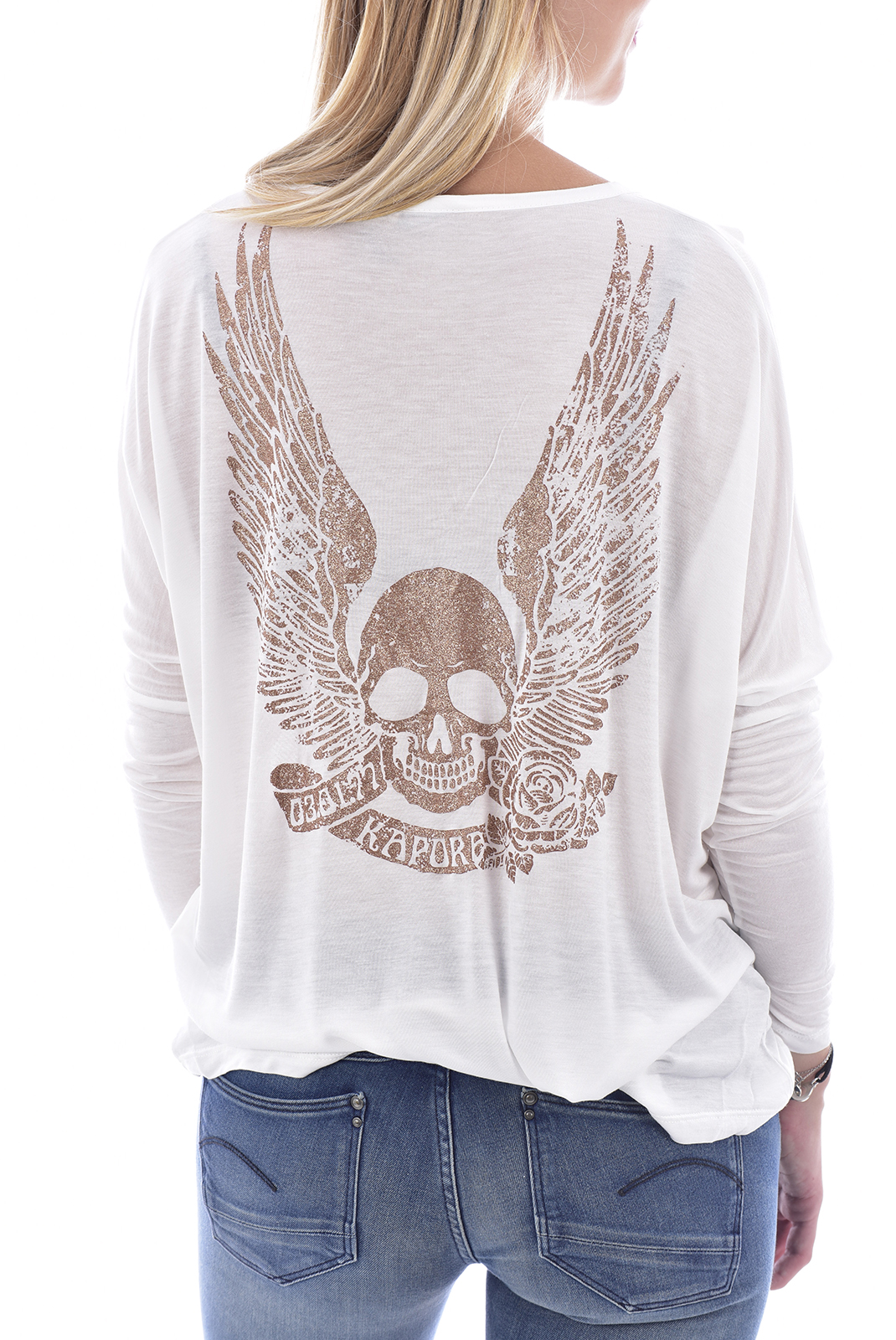 Tee shirt manches longues  Kaporal AGATA OFF WHITE