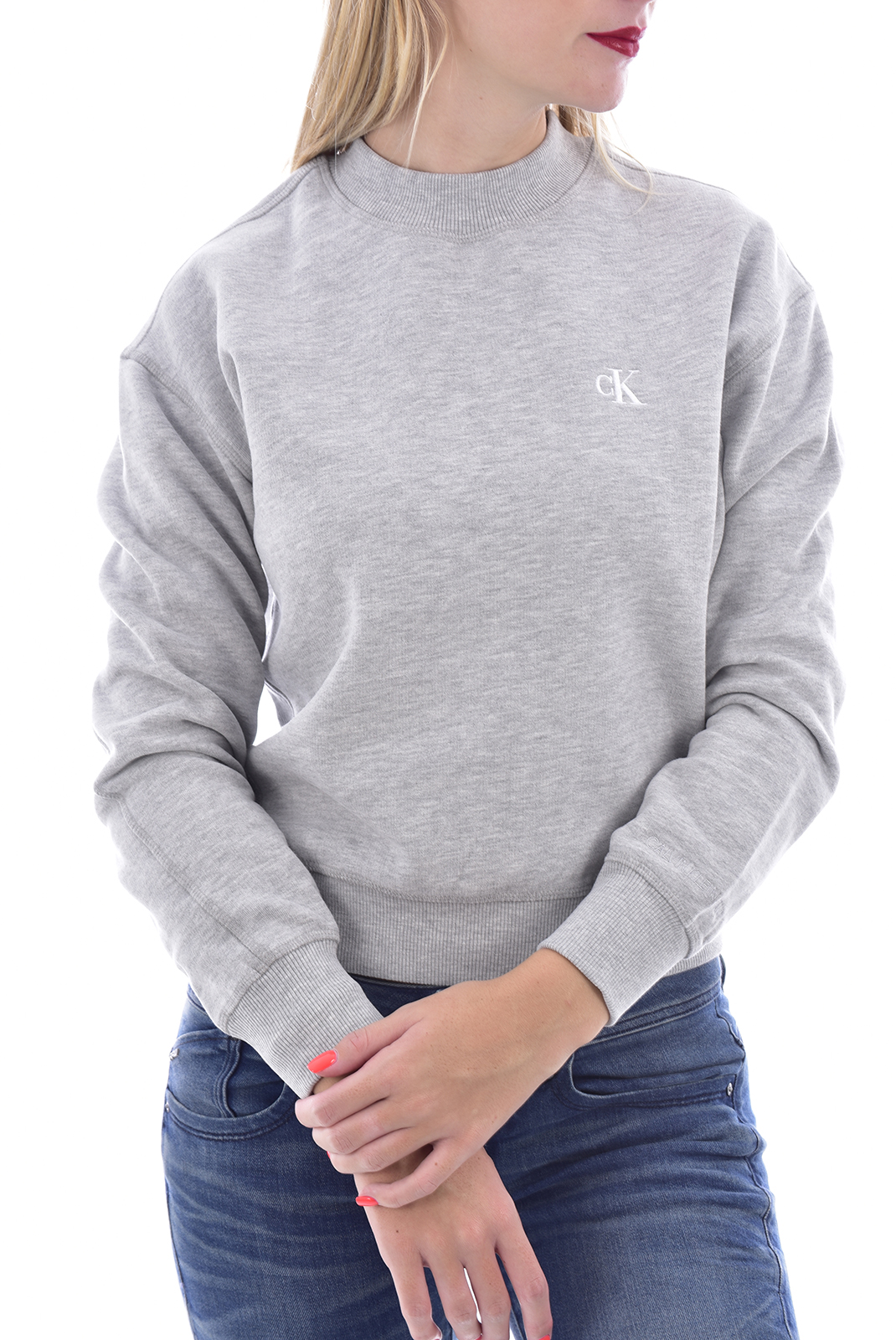 Sweat / sweat zippé  Calvin klein J20J212875 P01 LIGHT GREY HEATHER