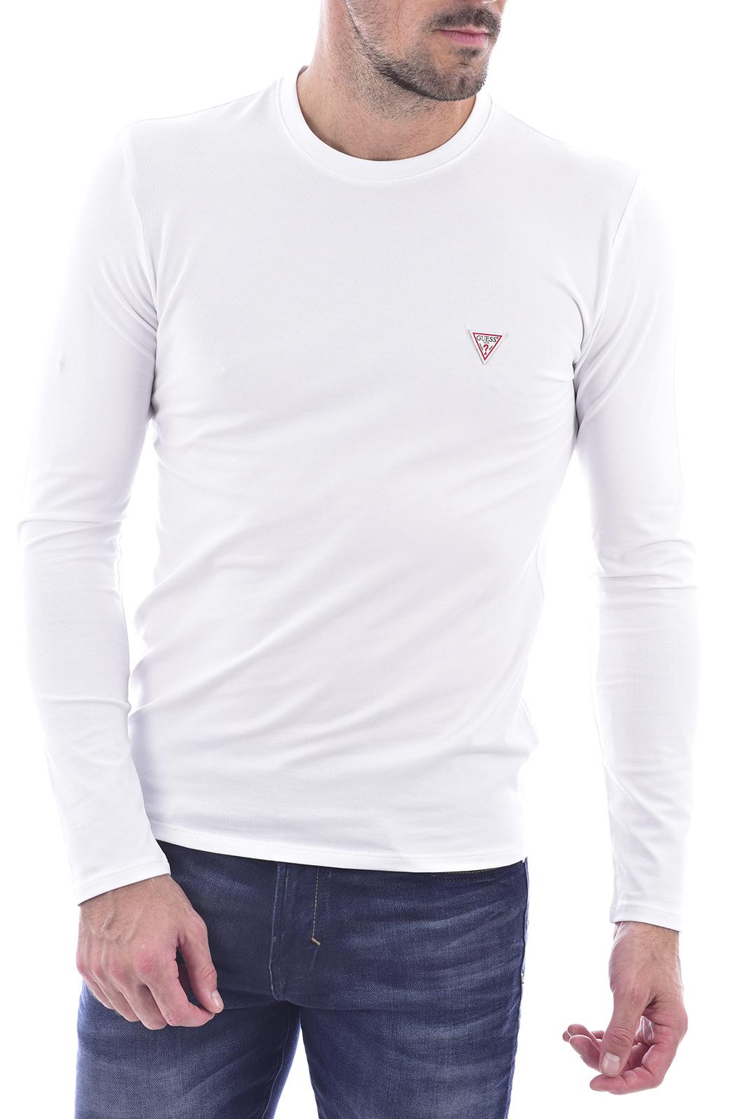 T-S manches longues  Guess jeans M0BI28 J1311 TWHT BLANC