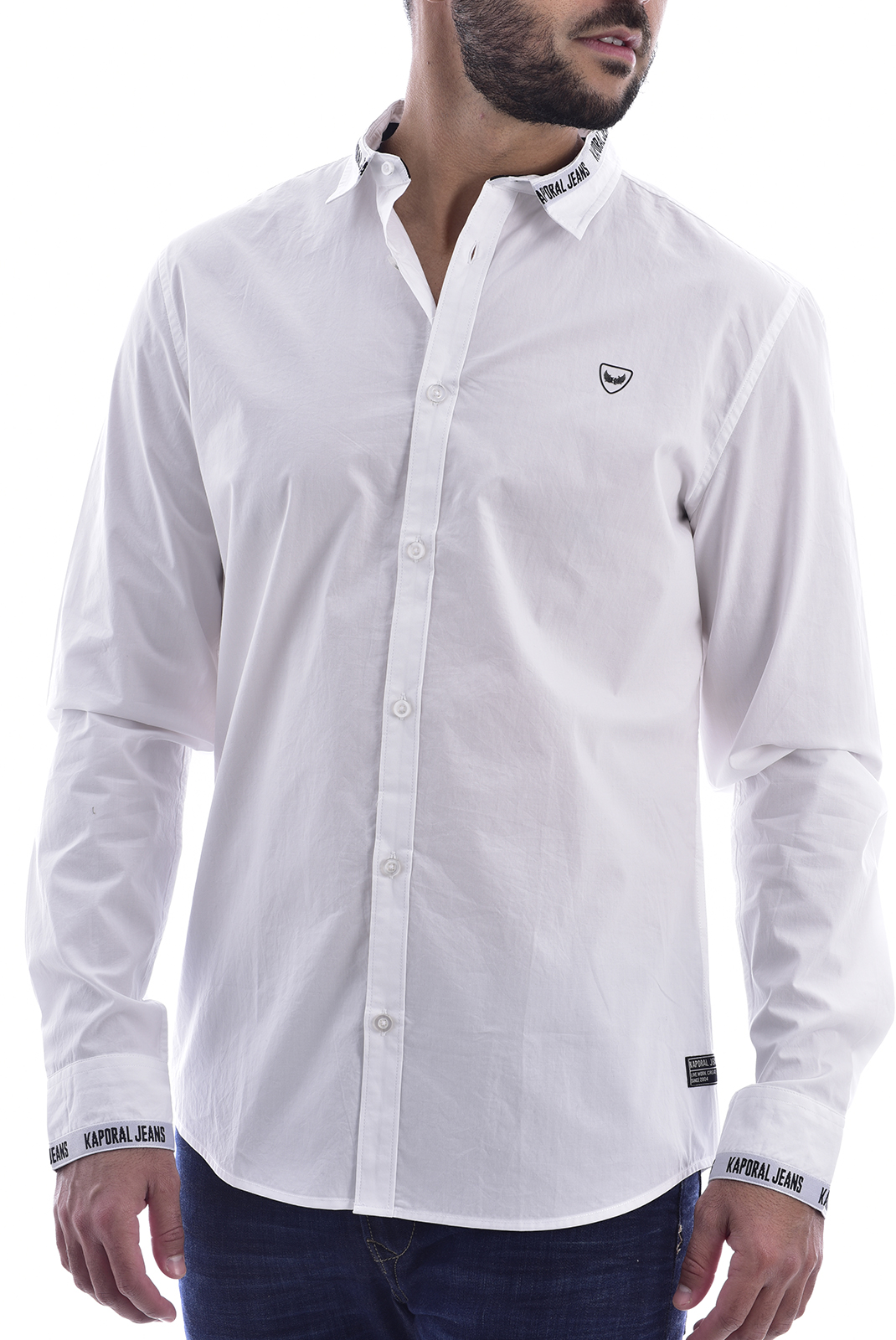 Chemises manches longues  Kaporal DYKE WHITE