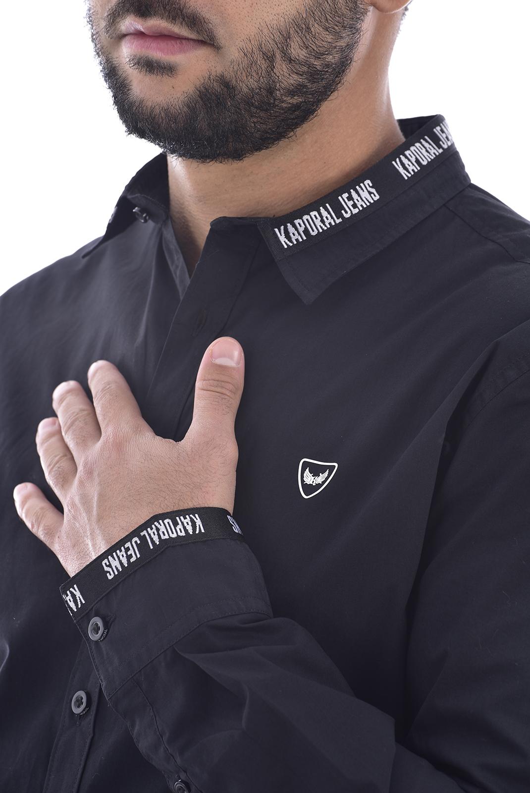 Chemises manches longues  Kaporal DYKE BLACK