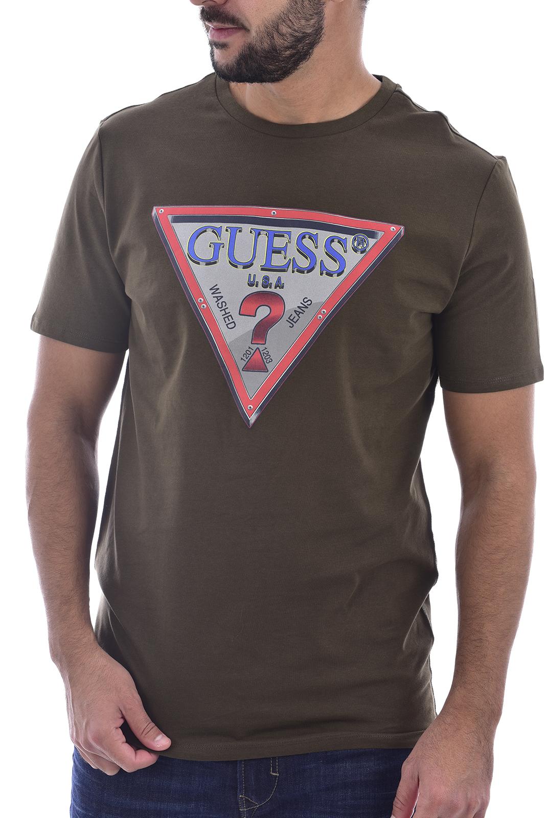 T-S manches courtes  Guess jeans M0BI58 J1300 G1M kaki