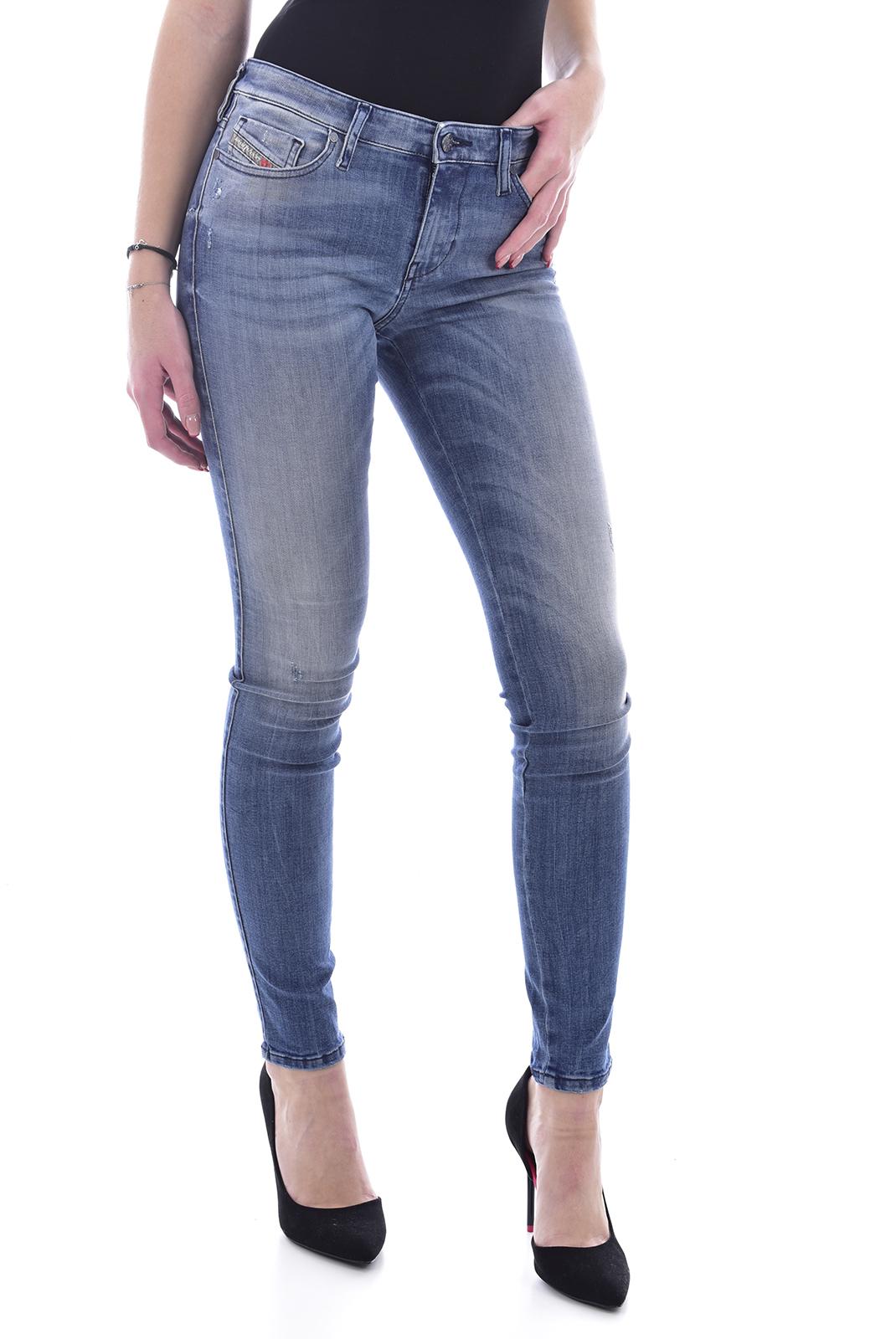 Jeans slim  Diesel SKINZEE 0679W bleu