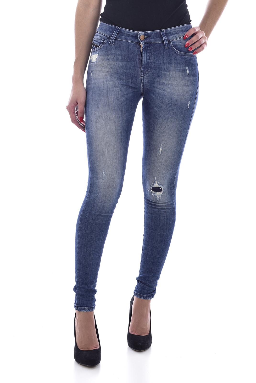 Jeans   Diesel SLANDY 084MU bleu