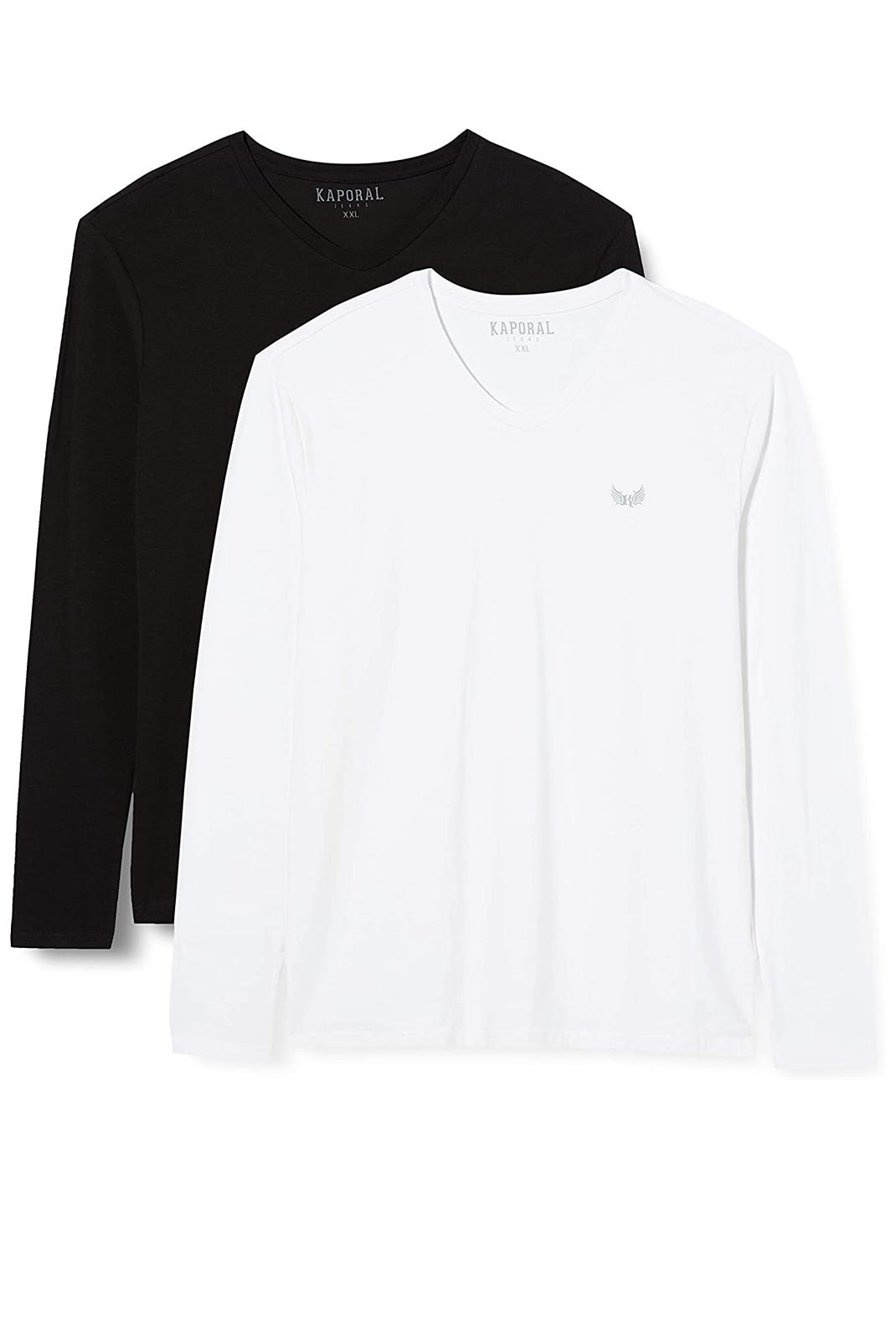 T-S manches longues  Kaporal VIFT WHITE/BLACK