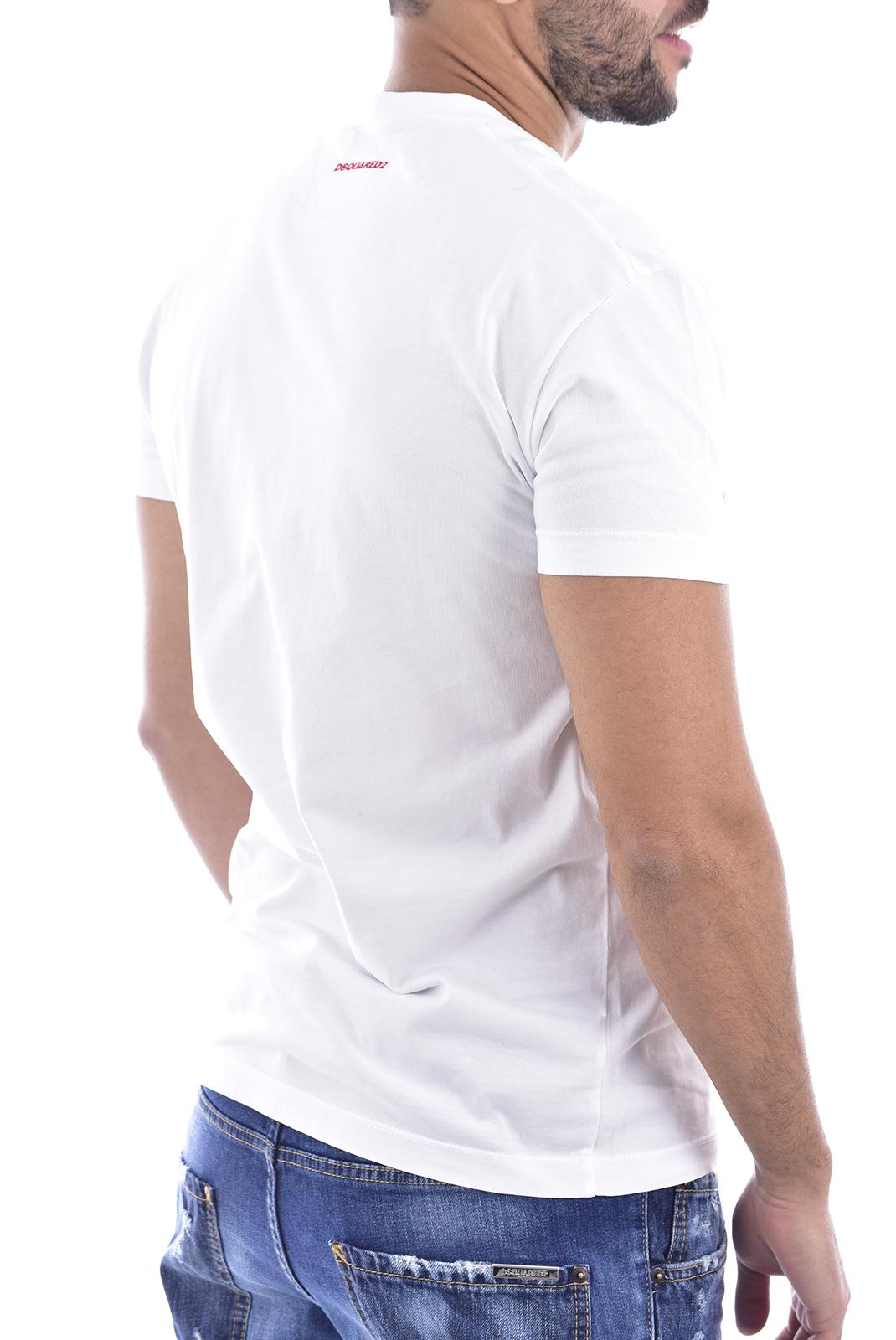 T-S manches courtes  Dsquared2 S71GD0809 100 blanc