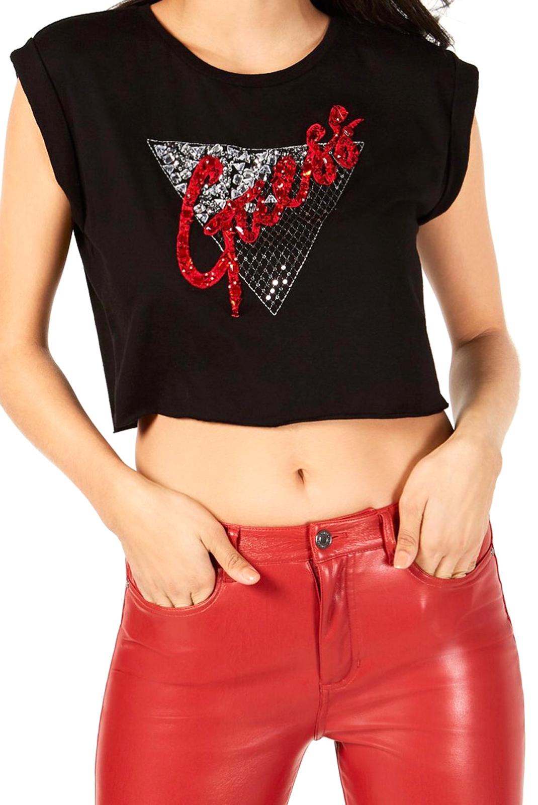 Tee shirt  Guess jeans W84I25 R5JK1 JBLK noir