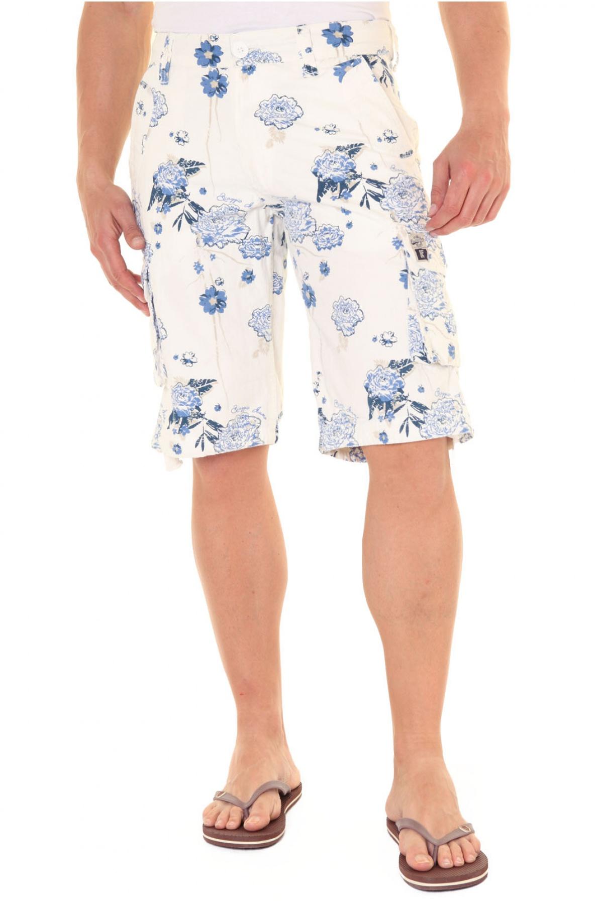 Bermuda Toile Imprimée Multipoche Furtif - Biaggio Jeans